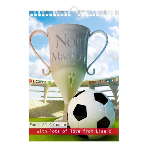 Personalised Football A4 Wall Calendar